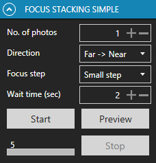 Focus stacking simple